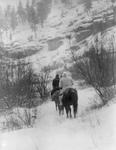 Free Picture of Apsaroke Men Hunting in Winter
