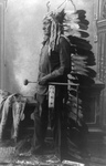 Free Picture of Sitting Bull in Feathered Headdress