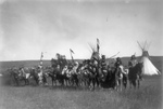 Free Picture of Apsaroke Native Americans on Horses