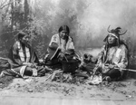 Free Picture of Sioux Indians Cooking on Fire