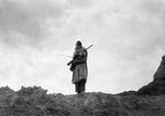 Free Picture of Sioux Man With Rifle and bow