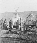 Free Picture of Sioux Indians, Wagon and Tipi