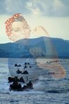 Free Picture of Rosie The Riveter Merged With Amphibious Vehicles