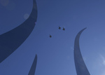 Free Picture of Air Force Thunderbirds Over Air Force Memorial