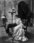 Free Picture of Viola Allen Seated at a Desk