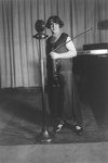 Free Picture of Renee Chemet in Front of Microphone, Holding Violin