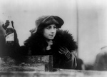 Free Picture of Mrs. Graze Knippen of Holding a Bottle of Beer, Prohibition