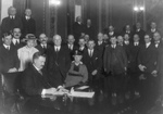 """Free Picture of Governor Norbeck Signing the """"Bone Dry"""" Law"""