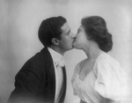 Free Picture of Man and Woman Kissing