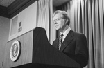 Free Picture of Jimmy Carter Giving a Speech Regarding the Iran Hostage Crisis