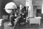 Free Picture of Roosevelt by a Globe
