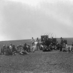 Free Picture of Theodore Roosevelt Hunting Party Eating
