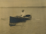 Free Picture of Theodore Roosevelt Rowing a Boat
