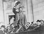 Free Picture of Theodore Roosevelt Waving Hat