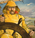Free Picture of Theodore Roosevelt Steering a Ship
