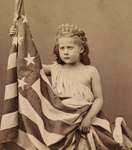 Free Picture of Fontinelle Weller Holding Flag