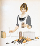Free Picture of Woman Canning Fruit