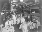 Free Picture of Dining Car Interior