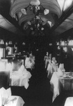 Free Picture of Railroad Car Dining Area