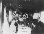 Free Picture of Sarah Bernhardt in Dining Car