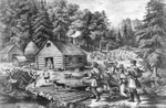Free Picture of Pioneer Log Cabin