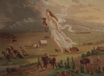 Free Picture of Figure of America Guiding Pioneers