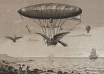 Free Picture of Airship by Ocean