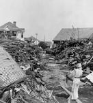 Free Picture of Path Through Debris, Galveston Hurricane