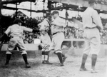 Free Picture of The Great Bambino Making a Home Run