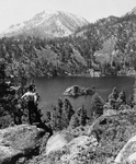 Free Picture of Man Overlooking Emerald Bay