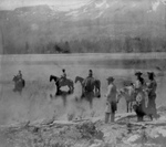 Free Picture of People and Horses at Fallen Leaf Lake
