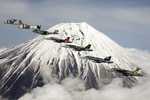 Free Picture of Carrier Air Wing Five Near Mt Fuji