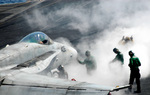 Free Picture of Steam on Aircraft Carrier