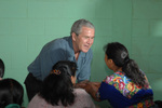 Free Picture of George W Bush Greeting a Guatemalan Woman