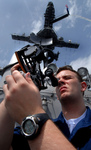 Free Picture of Navy Man Using a Sextant