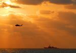 Free Picture of Helicopter and Aircraft Carrier