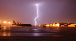 Free Picture of Lightning Near KC-135 Stratotankers