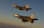 Free Picture of F-22A Raptor Fighter Jets