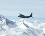 Free Picture of C-130 Hercules Over Alaska Range