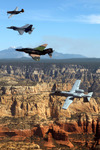 Free Picture of P-51 Mustang, F-4 Phantom, A-10 Thunderbolt, F-16 Fighting Falcon