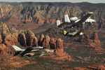Free Picture of Military Aircraft Over Sedona, AZ