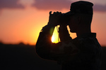 Free Picture of Soldier at Sunset