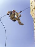 Free Picture of Soldier on Rock Wall