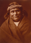 Free Picture of Acoma Indian Man Wearing Headband
