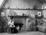 Free Picture of Frances Benjamin Johnston With Spinning Wheel