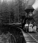 Free Picture of People on a Logging Train