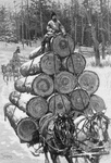 Free Picture of Horses Hauling Logs
