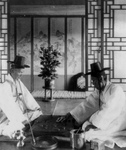 Free Picture of Men Playing Oriental Chess