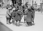 Free Picture of Children Playing Ring Around a Rosie