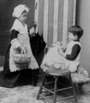 Free Picture of Children Playing House